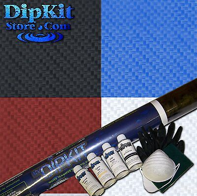 Hydrographics Dip Kit Activator Large Carbon Fiber Hydro Silver Clear Cf-62-21