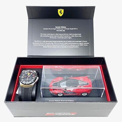 Ferrari Men's Special Edition Scuderia Aspire 42mm Watch w/ Scale Model FXX K
