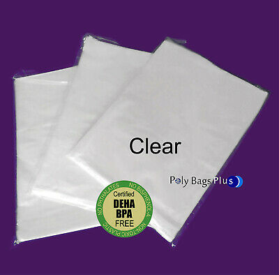 Clear Poly Baggies Bpa Free Open Top Lay Flat Plastic 1mil 100 200 500 1000 Bags