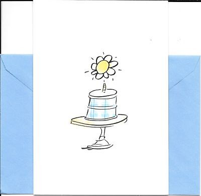 Happy Birthday Birth-daisy White Daisy Cake Hallmark Greeting Card - Set of 2](Happy Birth)