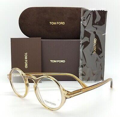 NEW Tom Ford RX Prescription Champagne FT5526/V 045 45mm AUTHENTIC TF5526 (Round Prescription Sunglasses)