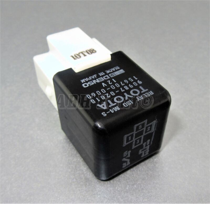 131-Toyota/ Lexus 4-Pin Black Relay 90987-02010 Denso 156700-0060 ISO M4-S Japan