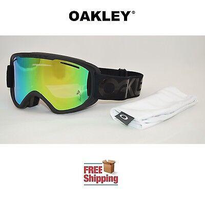 OAKLEY® GOGGLES O2™ XM 02 DUAL LENS SNOW BOARD SKI BLACKOUT W/ JADE MIRROR LENS
