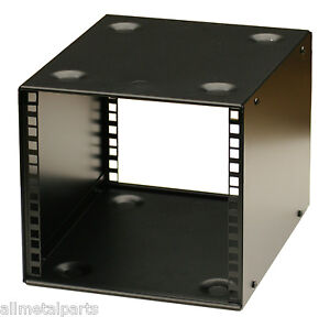 5U-9-5-inch-Half-Rack-200mm-STACKABLE-DESK-PRO-DJ-AUDIO-HALF-RACK-BLACK