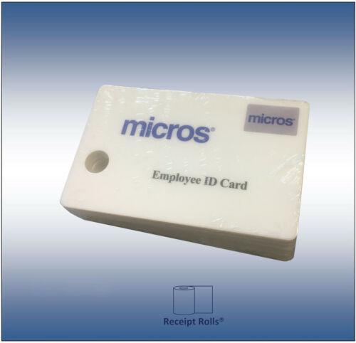 Pkg of 10 Genuine OEM Micros Oracle Magnetic Stripe Employee Swipe ID Cards