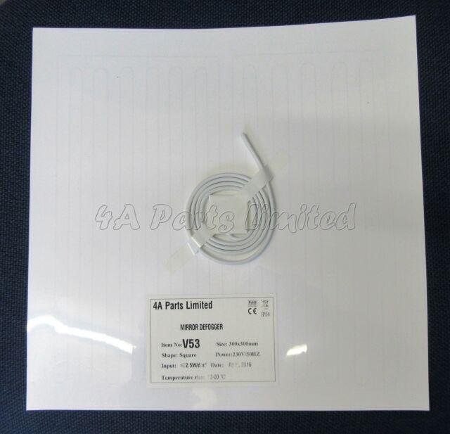 Bathroom Mirror Heater v53/ bathroom mirror heater defogger/ demister 230v square shape