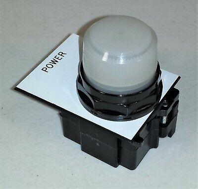 Eaton 10250e-d1348-6 Pilot Light 30 Mm White 120v W Legend Plate Black