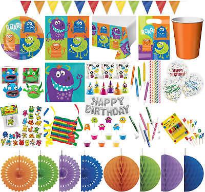 Kinder-Geburtstag Party Deko Feier Fete Fest Motto Monster Alarm ()