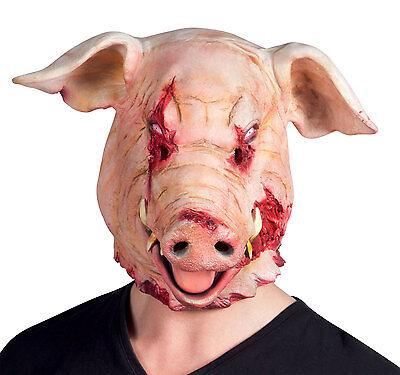 Scary Schwein Maske Ganzer Kopf Latex Tier Bauernhof I Säge Kostüm - Schwein Kopf Kostüm Maske