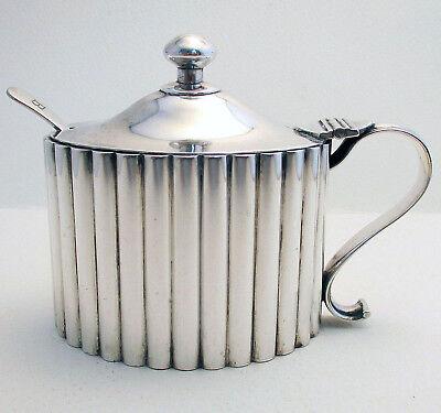 Huge Hamilton & Co. Rare Indian Colonial Solid Silver Mustard Pot India Calcutta