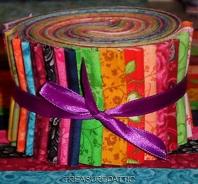 Jelly Roll Strips Quilt Fabric 20~diff fabrics 2.5