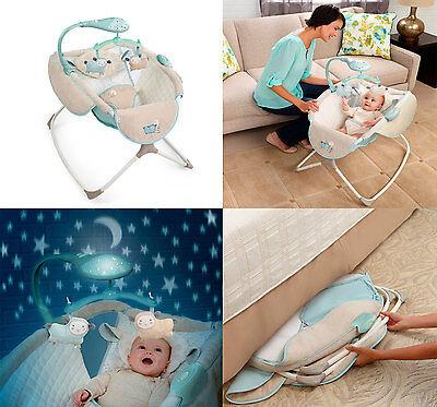 Newborn Rocking Sleeper Bassinet Baby Furniture Nursery Crib Portable Cradle Bed