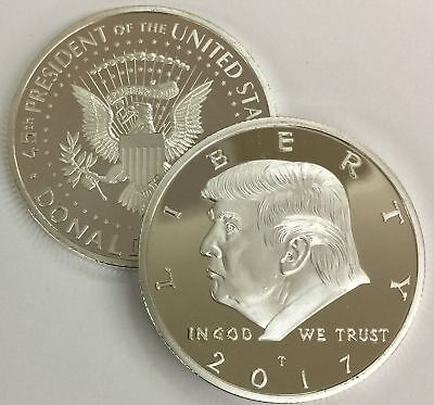 2017 Donald Trump Republican US Eagle USA Collection Coin Capsule Silver Colored