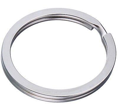 100 Schlüsselringe 30mm FLACH Schlüsselring Stahlringe Edelstahl Anhänger Design Unbekannte Star