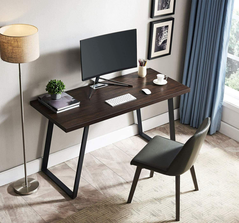 Computer Desk, Modern Writing Desk, Simple Study Table, Industrial Office Desk Furniture