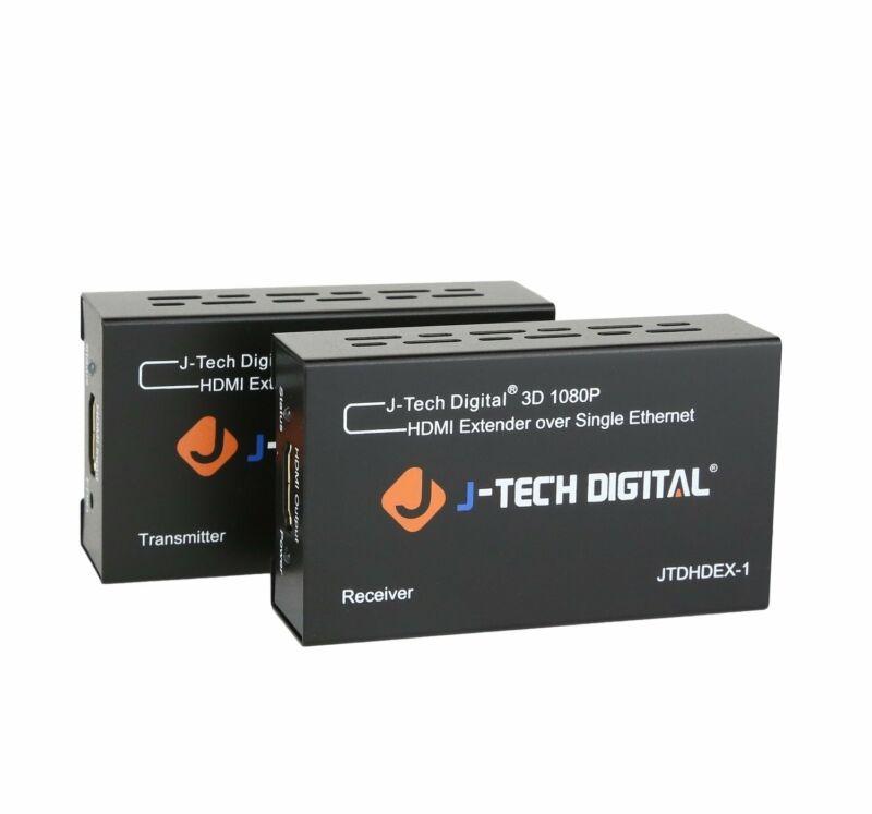 J-Tech Digital HDMI Extender By Single Cat 5E/6/7 Full Hd 1080P EDID Dolby DTS