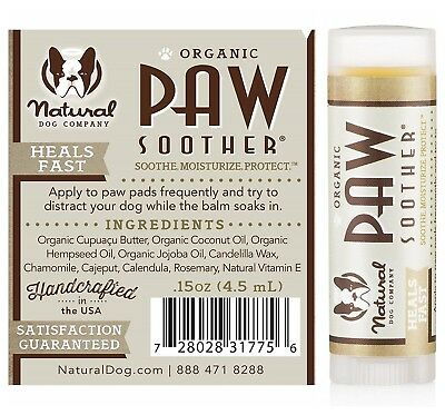 Cracked Crusty Dog Paws Stick Dry Chapped Skin Cure Paw Soother 100% Organic