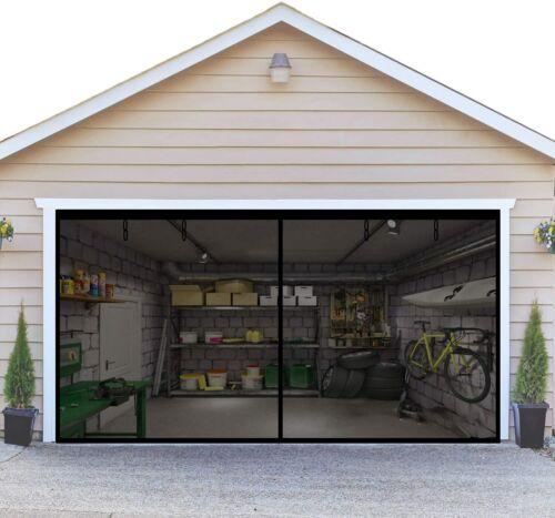 16x7FT Car Garage Double Garage Screen Door Breathable Fiberglass New