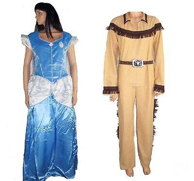 Disney Prinzessin Cinderella Indianer Kostüm Damenkostüm Herrenkostüm NEU