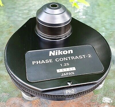 Nikon Microscope 1.25 Phase Contrast-2 Darkfield Condenser Ph1 Ph2 Ph3 Ph4 Df Bf