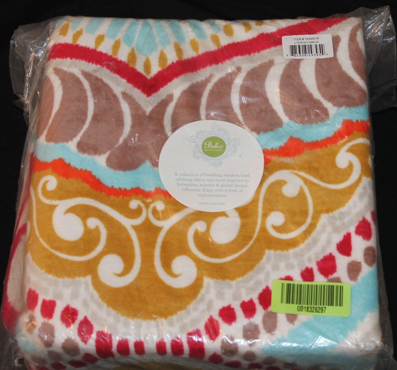 Boho Boutique Utopia Throw Blanket multi colors new