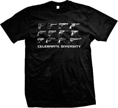 Celebrate Diversity Pro Gun 2Nd Amendment Rights Humor Pun Funny Mens T Shirt