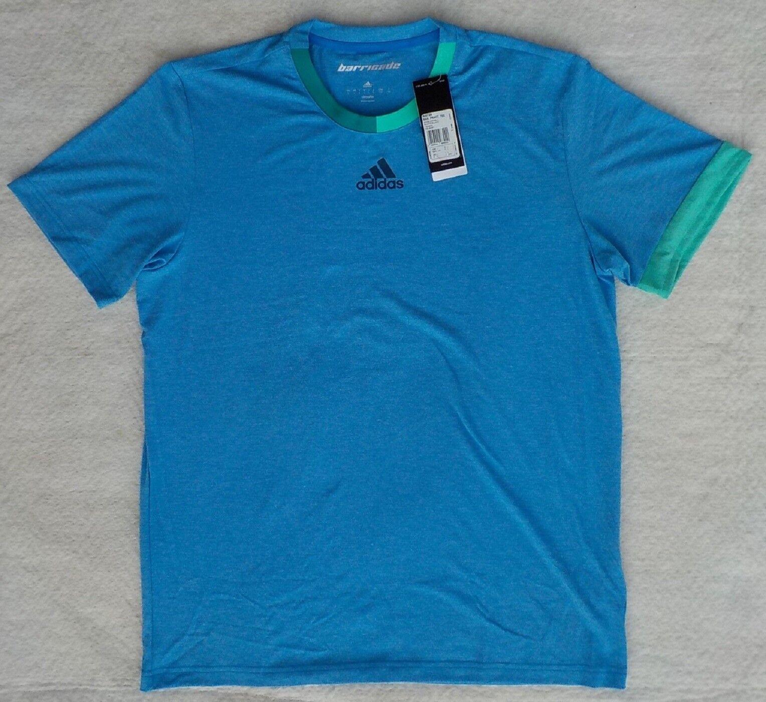 adidas barricade AI0726 Practice Herren Tennis T-Shirt S M L XL 2XL blau Tee