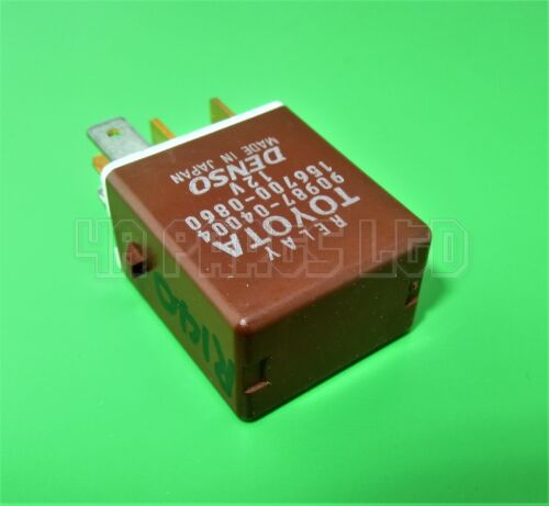 Toyota Lexus Brown Multi-Use Relay Denso 90987-04004 156700-0860 (5-Pin)