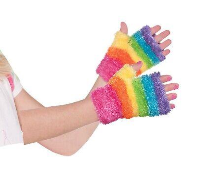 Rainbow Fairy Mädchen Kind Unscharf Kostüm Einhorn Rave Monster Handschuhen