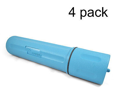 4 Pack - 14 Blue Welding Electrode Rod Guard Holder Storage Canister