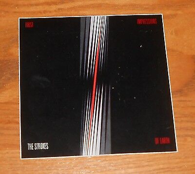 The Strokes First Impressions of Earth Sticker 2-Sided Original 2006 Promo 4x4