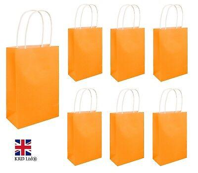 NEON ORANGE PARTY BAGS Kids Halloween Favors Girls Hen Night Goodies Gift UK ()