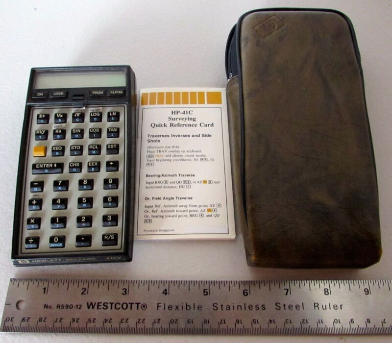 Details about Lot HP 41CV Scientific Calculator with Structural Engineering  Cards Pak Case RPN
