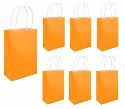 HALLOWEEN NEON ORANGE PARTY BAGS Kids Favors Girls Hen Night Goodies Gift UK - Halloween Goody Bags Uk