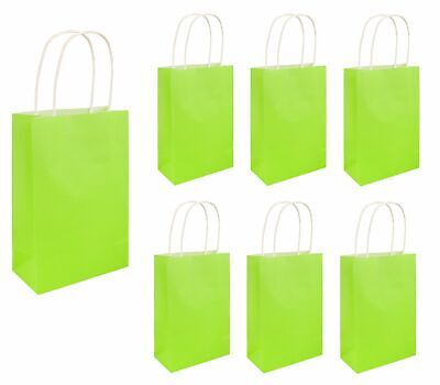 PARTY BAGS NEON GREEN Hen Night Kids Halloween Favors Boys Girls Goodies Gift UK - Halloween Goody Bags Uk