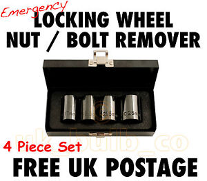 Locking Wheel Nut Bolt Remover- PEUGEOT 207 305 306 307 308  LOST/ BROKEN KEY