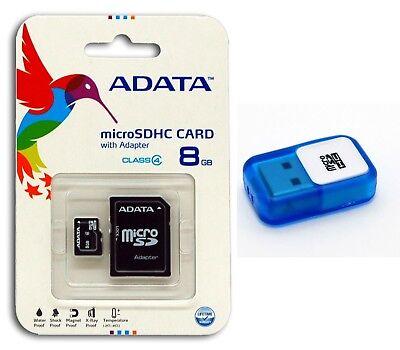ADATA 8GB Class 4 Micro SD/Micro SDHC/TF Flash Memory Card with USB Reader 8G ()