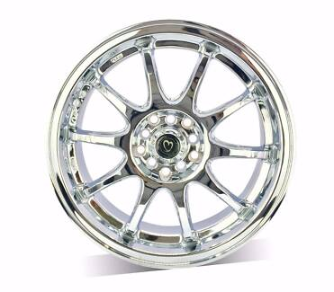 1X18 INCH1X 17 INCH CHROME WHEEL FREE DELIVERY