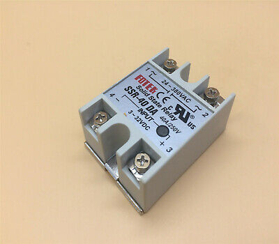 Ssr-40da 40a 250v 3-32vdc Solid State Relay Ship From Us