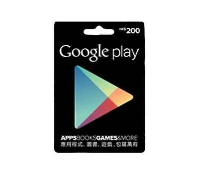 1 X Hong Kong Google Play Gift Card Hkd 500  Hong Kong Google Play Account Only