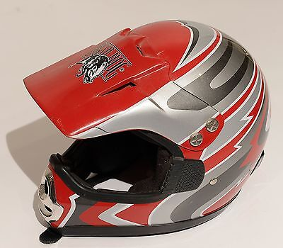 Bush Hog Motocross Helmet Youth Large Nice