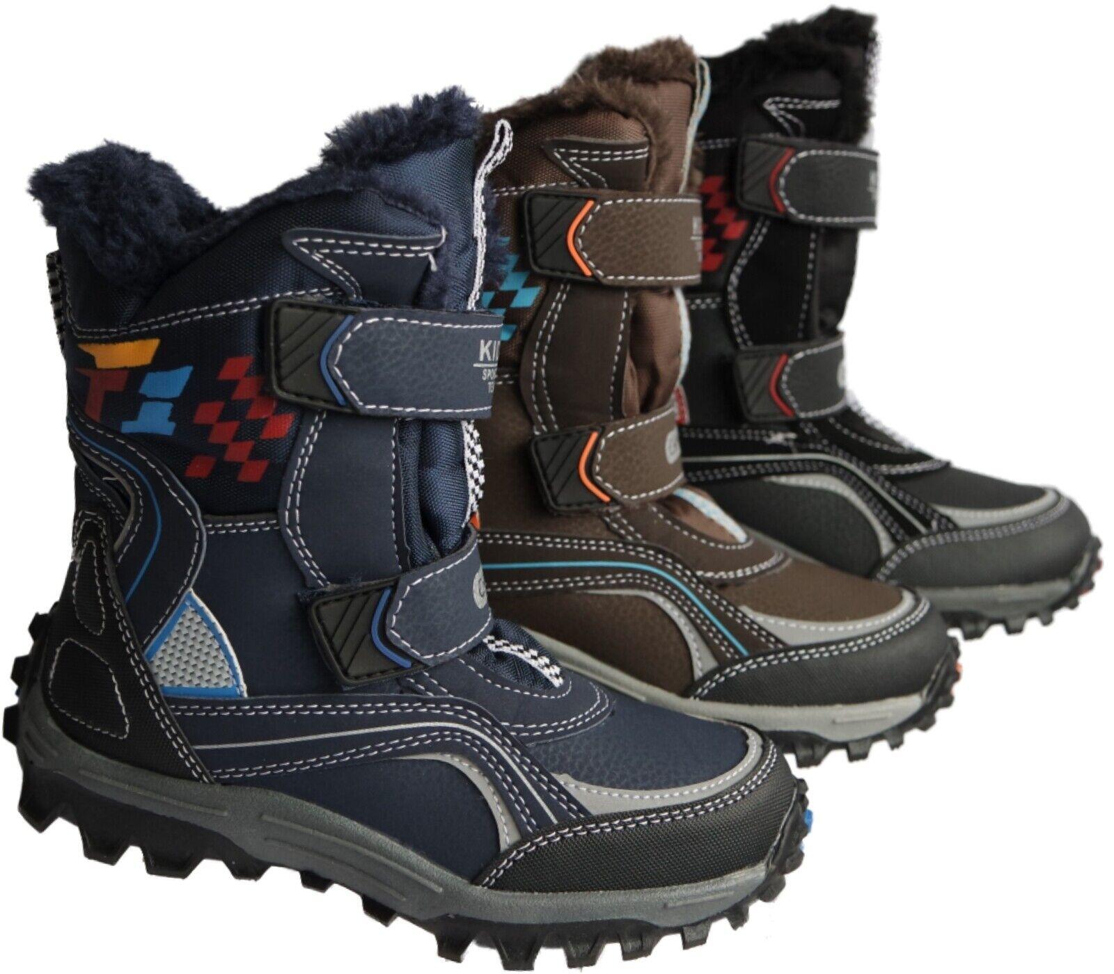 Jungen Kinder Winter Stiefel Boots Schuhe gefüttert Gr.25 - 36 Nr.5015/16