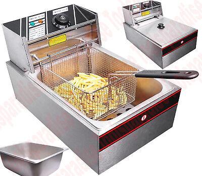 Restaurant Quality 1.5 Gallon Electric Countertop Deep Fryer Frying Pan