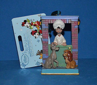 Disney Store 2015 Lady and the Tramp Sketchbook Ornament NIB