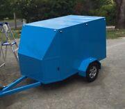 Large box trailer custom made blue single axle Woori Yallock Yarra Ranges Preview
