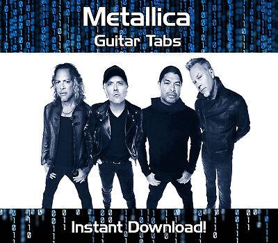 METALLICA ROCK METAL GUITAR TAB TABLATURE DOWNLOAD SONG BOOK SOFTWARE TUITION (Metal Guitar Tab Book)