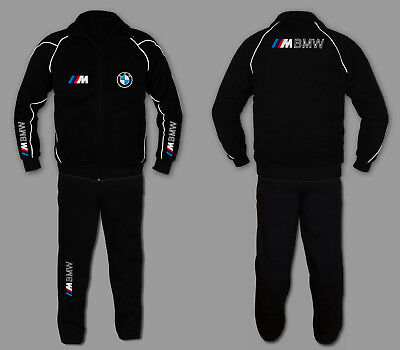 Sweatsuit Jacke Hose (BMW M POWER Anzug Jogginganzug Set Sweat Suit Trainings Jacke Hose STICKEREI  EU)