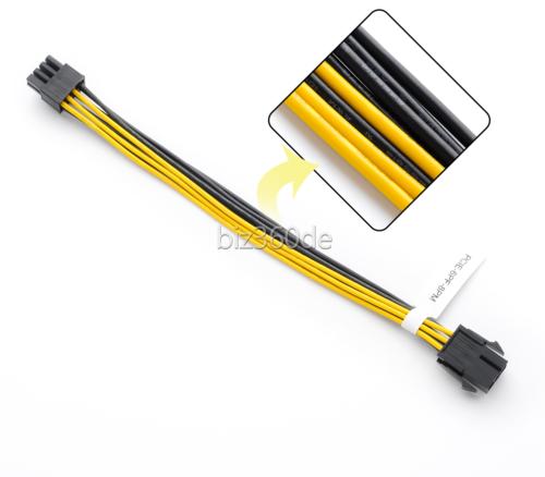 PCI Express 6Pin auf 8Pin Grafikkarte Stromadapterkabel für GPU Video Card PCIe