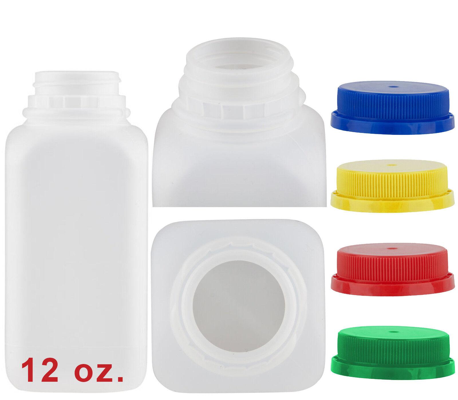 12 oz HDPE Plastic Juice Bottle - 6 per case Sample Pack Wit