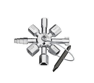 KNIPEX Schaltschrankschlüssel TwinKey®  für gängige Schränke und Absperrsysteme